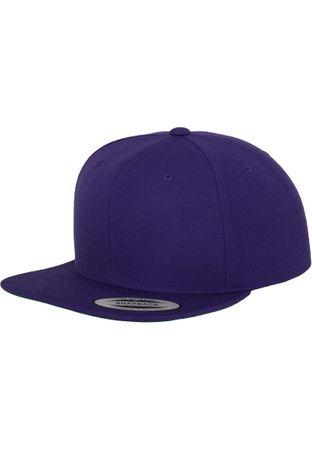 Flexfit / Yupoong Classic Snapback Cap in lila – Bild 1