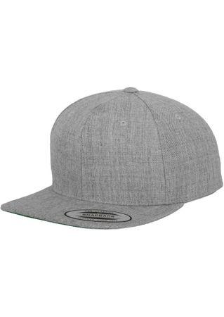 Flexfit / Yupoong Classic Snapback Cap in heathergrau – Bild 1