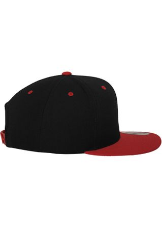Flexfit / Yupoong Classic Snapback 2-Tone Cap in schwarz-rot – Bild 5