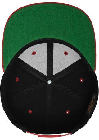 Flexfit / Yupoong Classic Snapback 2-Tone Cap in schwarz-rot – Bild 8
