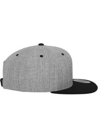 Flexfit / Yupoong Classic Snapback 2-Tone Cap in grau-schwarz – Bild 5