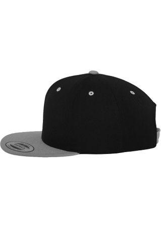 Flexfit / Yupoong Classic Snapback 2-Tone Cap in schwarz-silber – Bild 3