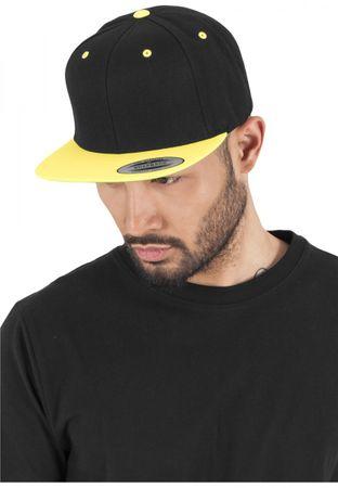 Flexfit / Yupoong Classic Snapback 2-Tone Cap in schwarz-neongelb – Bild 1