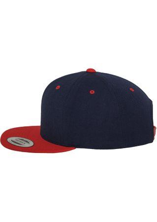 Flexfit / Yupoong Classic Snapback 2-Tone Cap in navy-rot – Bild 4
