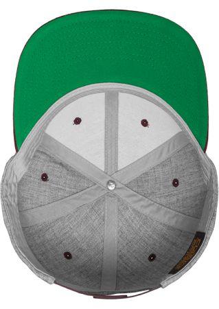 Flexfit / Yupoong Classic Snapback 2-Tone Cap in grau-maroon – Bild 8