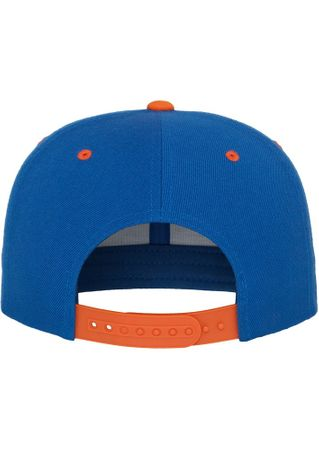 Flexfit / Yupoong Classic Snapback 2-Tone Cap in royal-orange – Bild 6
