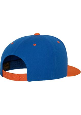 Flexfit / Yupoong Classic Snapback 2-Tone Cap in royal-orange – Bild 5