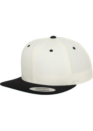 Flexfit / Yupoong Classic Snapback 2-Tone Cap in weiß-schwarz – Bild 3