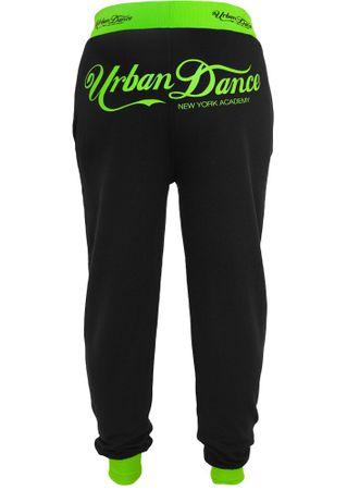 Urban Classics Academy Sweatpant schwarz-neongrün in den Größen XS-XL – Bild 3