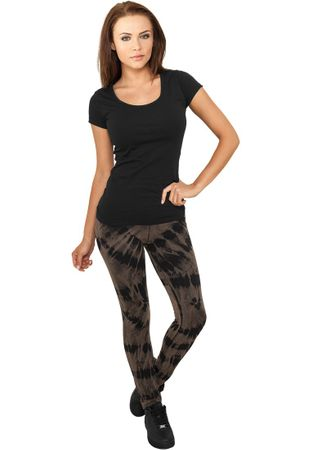 Urban Classics Ladies Acid Wash Splash Leggings in schwarz-grau von XS-XL – Bild 1