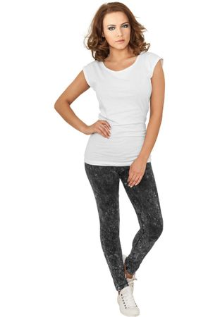 Urban Classics Ladies Acid Wash Leggings in dunkelgrau von XS-XL – Bild 1