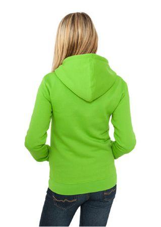 Urban Classics Ladies Zip Hoodie limegrün in S-L – Bild 2
