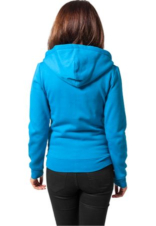 Urban Classics Ladies Zip-Hoodie türkis in XS-XL – Bild 2