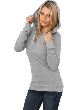 Urban Classics Ladies Jersey Hoody grau in den Größen XS-XL – Bild 1