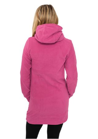 Urban Classics Ladies Long Polar Hoodie fuchsia in Größe XS-XL – Bild 2