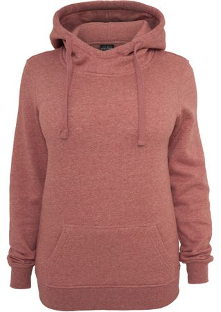 Urban Classics Ladies Melange Hoody ruby in Größe XS-XL – Bild 2