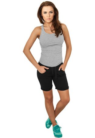 Urban Classics Ladies 5 Pocket Sweatshorts in schwarz von XS-XL – Bild 1