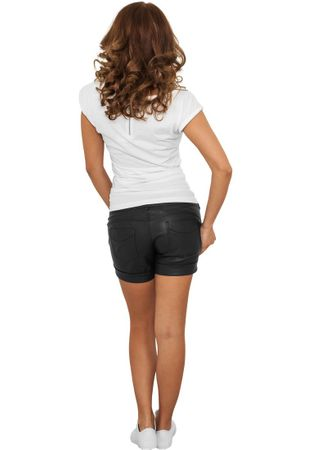Urban Classics Ladies Imitation Leather Hot Shorts schwarz von Größe XS-XL – Bild 3
