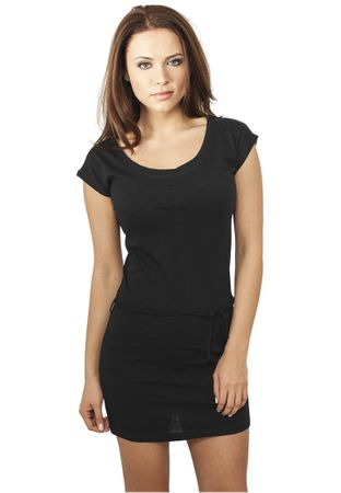 Urban Classics Ladies Slub Jersey Dress schwarz in Größe XS-XL