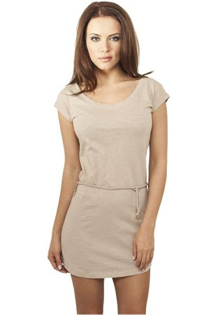Urban Classics Ladies Slub Jersey Dress in beige von XS-XL – Bild 1