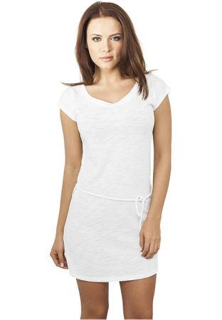 Urban Classics Ladies Slub Jersey Dress weiß in Größe XS-XL
