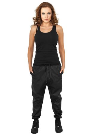 Urban Classics Ladies Deep Crotch Leather Imitation Pants von Größe XS-XL – Bild 1