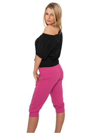Urban Classics Ladies French Terry Capri Sweatpants 3/4 fuchsia von Größe XS-XL – Bild 2