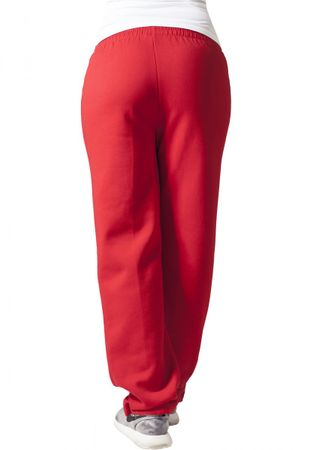 Urban Classics Ladies Loose-Fit Sweatpants rot von XS-XL – Bild 2