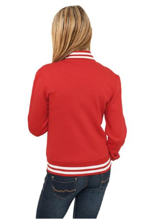 Urban Classics Ladies College Sweatjacket in rot von Größe XS-XL – Bild 2