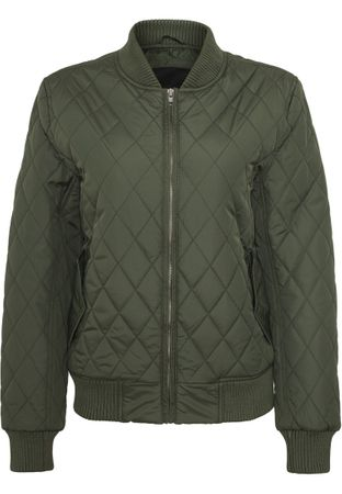 Urban Classics Ladies Diamond Quilt Nylon Jacket olive von Größe XS-XL