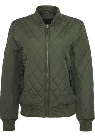 Urban Classics Ladies Diamond Quilt Nylon Jacket olive von Größe XS-XL