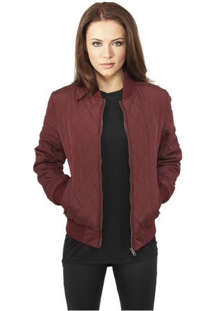 Urban Classics Ladies Diamond Quilt Nylon Jacket burgundy von Größe XS-XL