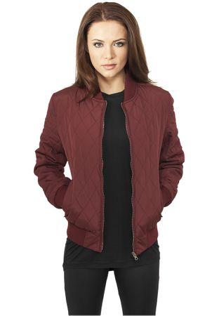Urban Classics Ladies Diamond Quilt Nylon Jacket burgundy von Größe XS-XL