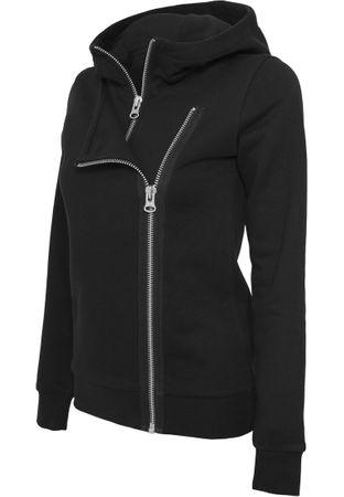 Urban Classics Ladies Biker Sweat Jacke in schwarz von XS-XL – Bild 2