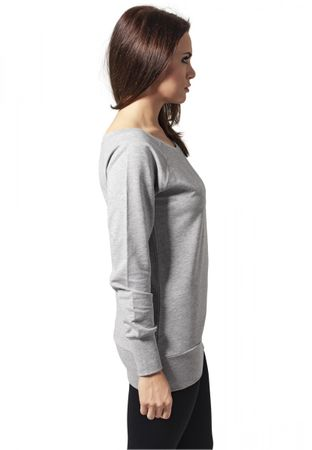 Urban Classics Ladies Wideneck Sweatshirt in grau von XS-XL – Bild 3