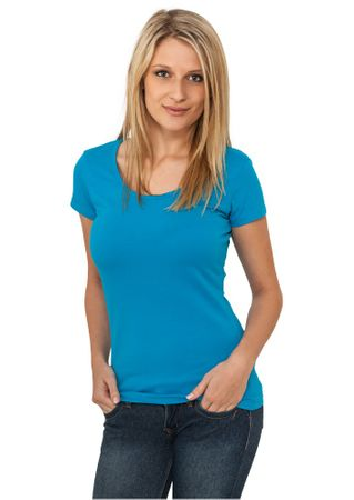 Urban Classics Ladies Basic T-Shirt in türkis von Größe XS-XL