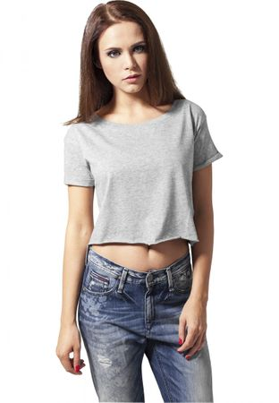 Urban Classics Ladies Short Tee / T-Shirt in grau von XS-XL – Bild 1