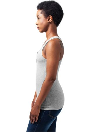 Urban Classics Ladies Button Tanktop in grau von XS-XL – Bild 4