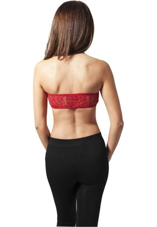 Urban Classics Ladies Laces Bandeau Top BH in rot von XS-XL – Bild 2