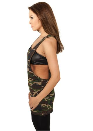 Urban Classics Ladies Camo Loose Tank Tops in wood von XS-XL – Bild 3