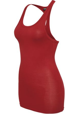 Urban Classics Fitted Viscon Racerback in rot von XS-XL – Bild 3