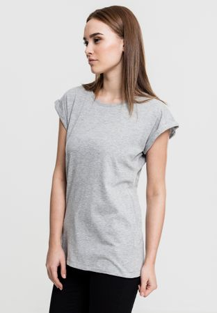 Urban Classics Ladies Extended Shoulder Tee in grau von XS-XL – Bild 2