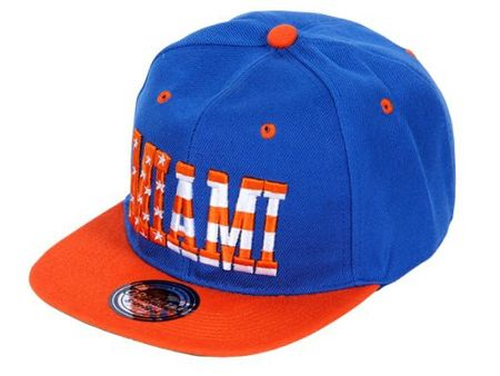 Viper City Fashion Baseball Snapback Cap Miami in royal-orange