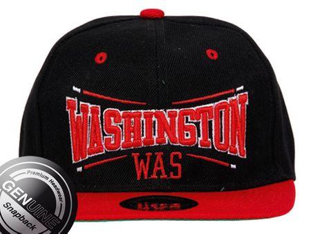 Washington City Fashion Baseball Cap in schwarz-rot – Bild 2
