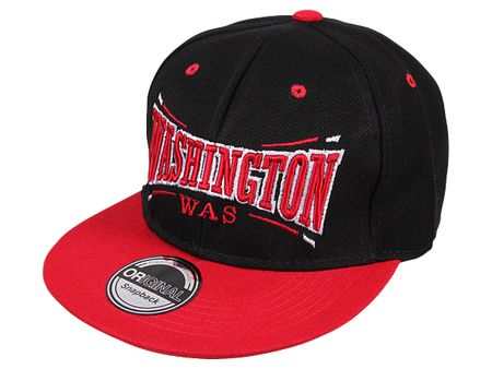 Washington City Fashion Baseball Cap in schwarz-rot – Bild 1