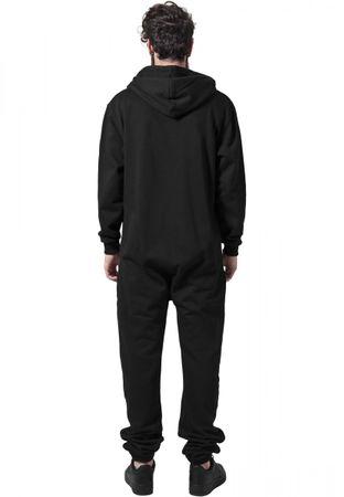 Urban Classics Sweat Jumpsuit Trainingsanzug in schwarz-fuchsia von XS/S bis XL/2XL – Bild 2