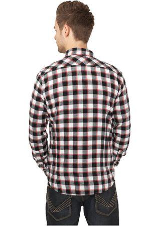 Urban Classics Tricolour Checked Light Flanell Shirt schwarz-weiß-rot in Größe S-2XL – Bild 2
