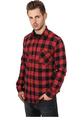 Urban Classics Checked Flanell Shirt Hemd schwarz-rot in den Größen S-2XL – Bild 1