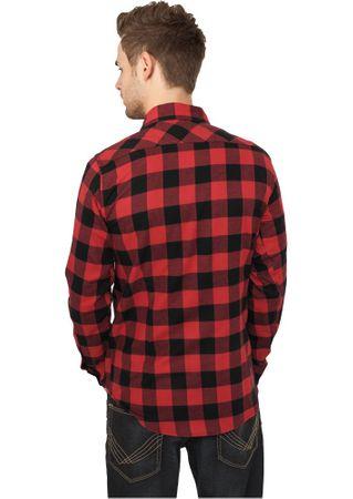 Urban Classics Checked Flanell Shirt Hemd schwarz-rot in den Größen S-2XL – Bild 2