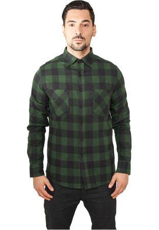 Urban Classics Checked Flanell Shirt Hemd schwarz-forestgrün in den Größen S-2XL